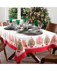 Toalha de Mesa 1,40m x 2,10m Natal Karsten - Tempo de Apreciar