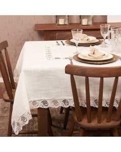 Toalha de Mesa 1,60x 1,60m Renda Guipir Finecasa - Arabesco