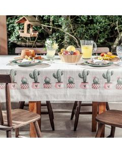 Toalha de Mesa Quadrada 1,40x1,40m Lepper - Cactus
