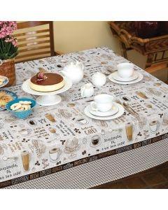 Toalha de Mesa Quadrada 1,40x1,40m Lepper - Cafe