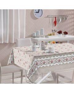 Toalha de Mesa Redonda Clean 1,60m Athenas Döhler - Cupcake Cinza