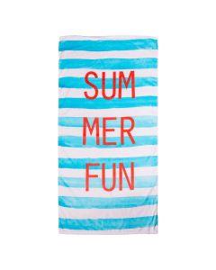 Toalha de Praia Aveludada Dohler - Summer Fun Azul