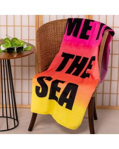 Toalha de Praia Aveludada Dohler - Take me To The Sea