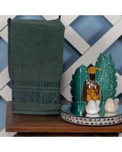 Toalha de Rosto 50x70cm Layla - Verde Musgo