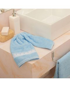Toalha de Rosto Jolie - Azul Celeste