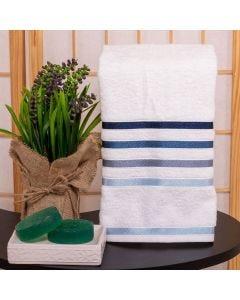 Toalha de Rosto Lúmina Karsten - Branca e Azul