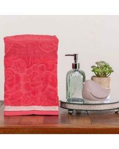 Toalha de Rosto Sophia - Vermelho