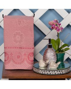 Toalha de Rosto Tiffany 48x75cm Havan - Rosa Croche