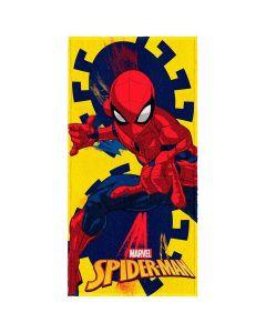 Toalha Felpuda de banho Spider Man Lepper - Amarelo