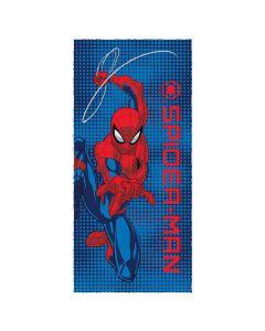 Toalha Felpuda de banho Spider Man Lepper - Azul Escuro