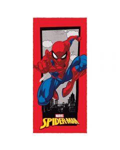 Toalha Felpuda de banho Spider Man Lepper - Cinza