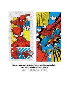 Toalha Felpuda De Banho Spider Man Lepper - Sortido