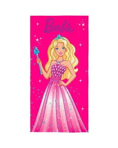 Toalha Praia Aveludada Barbie Lepper - Rosa