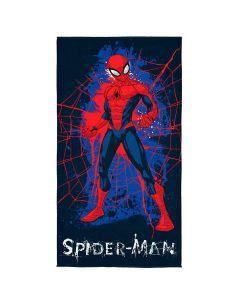 Toalha Praia Aveludada Spider-Man Ultimate Lepper - Azul