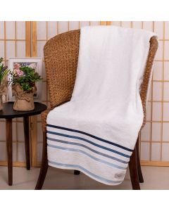Toalha Super Banho Lúmina Karsten - Branco e Azul