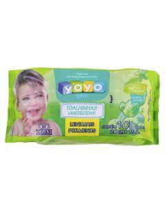 Toalhinha Umedecidas Flowpack 100 Unidades Yoyo Baby - DIVERSOS