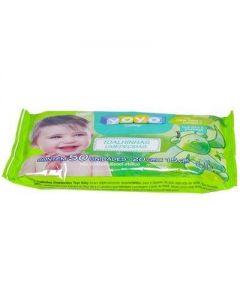 Toalhinhas Umedecidas Flowpack 50 Unidades Yoyo Baby - VERDE