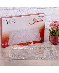 Travessa de Cristal Janine Lyor - Transparente