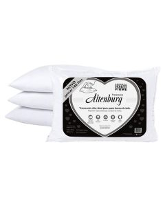 Travesseiro 50x70cm Extra Firme 180 Fios Altenburg - Branco
