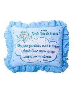 Travesseiro com Babado 28x35cm Cia do Neném Minasrey - Azul