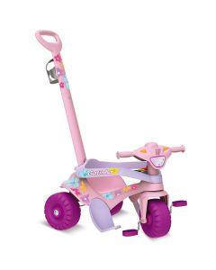 Triciclo Motoka Passeio e Pedal Gatinha Bandeirante - Rosa
