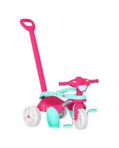 Triciclo Mototico Passeio Pedal Rosa Bandeirante - 693