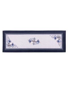 Trilho De Mesa 0,45X1,20M Clean Athenas Estampado Dolher - Floral Azul