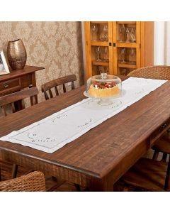 Trilho de Mesa 40cm x170cm Provence - Branco