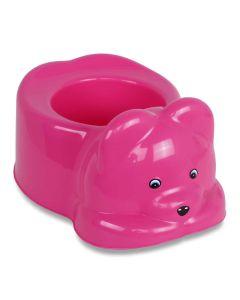 Troninho Penico Urso  para Bebê Plástico Yoyo Baby - ROSA CHIC