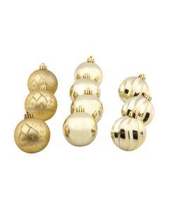 Tubo de Bolas 6 cm com 10 Peças Havan - Dourado