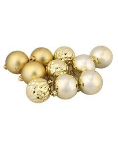 Tubo de Bolas Douradas com 10 Peças Havan - 6 cm
