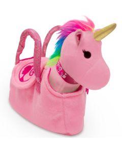 Unicórnio na Bolsinha Barbie Fun - Rosa