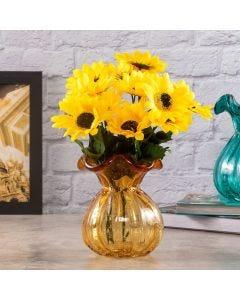 Vaso de Vidro Italy Lyor - Amarelo
