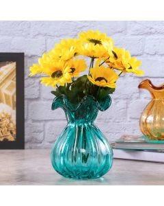 Vaso de Vidro Italy Tiffany Lyor - Azul