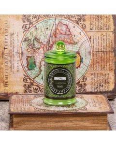Vela Aromatica Pote De Vidro - Verde Claro