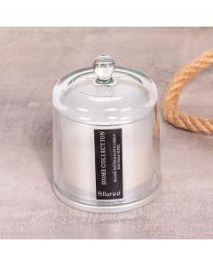 Vela Em Cúpula Com Vidro Transparente 200g - Branca