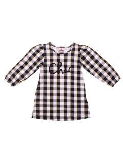 Vestido de 1 a 3 Anos Xadrez Brandili Preto