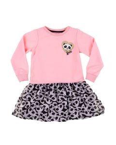 Vestido Infantil Blusão Panda Yoyo Kids Rosa.Bb
