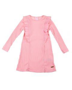 Vestido Infantil Ribana Yoyo Kids Rosa