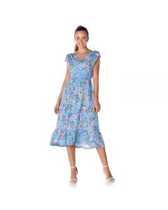 Vestido Longo Floral Patrícia Foster Estampado