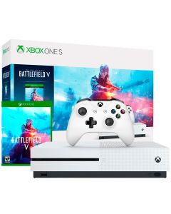 Vídeo Game Xbox One S 1TB Bundle Battlefield V Microsoft - Branco