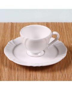 Xícara de Café com Pires Soleil White 75ml - Oxford - Porcelana