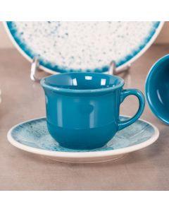 Xícara com Pires 200ml para Chá Biona - Respingos