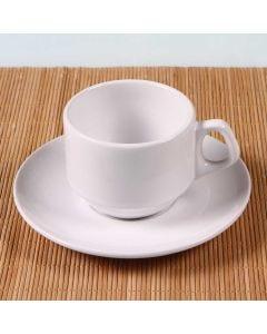 Xícara de Chá com Pires 200ml Hotel  Oxford - Porcelana