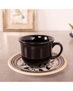 Xícara de Chá e Pires Floreal Luiza Oxford Daily - Ceramica