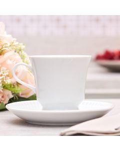 Xícara de Chá com Pires Folk 190ml Germer - Branco
