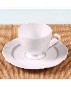 Xícara de Chá com Pires Soleil White 200ml - Oxford - Porcelana