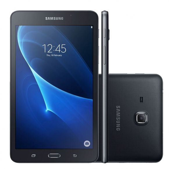 "Tablet Galaxy TAB A T280 7"" Wifi Bluetooth Samsung - Preto"