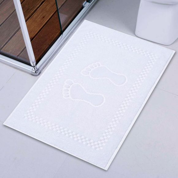 Toalha De Piso Atoalhado Branco
