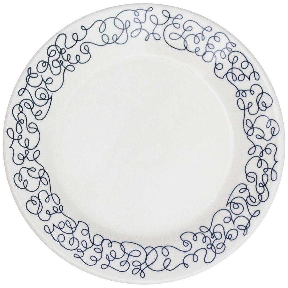 Prato Sobremesa Donna Geo 19Cm - Cerâmica